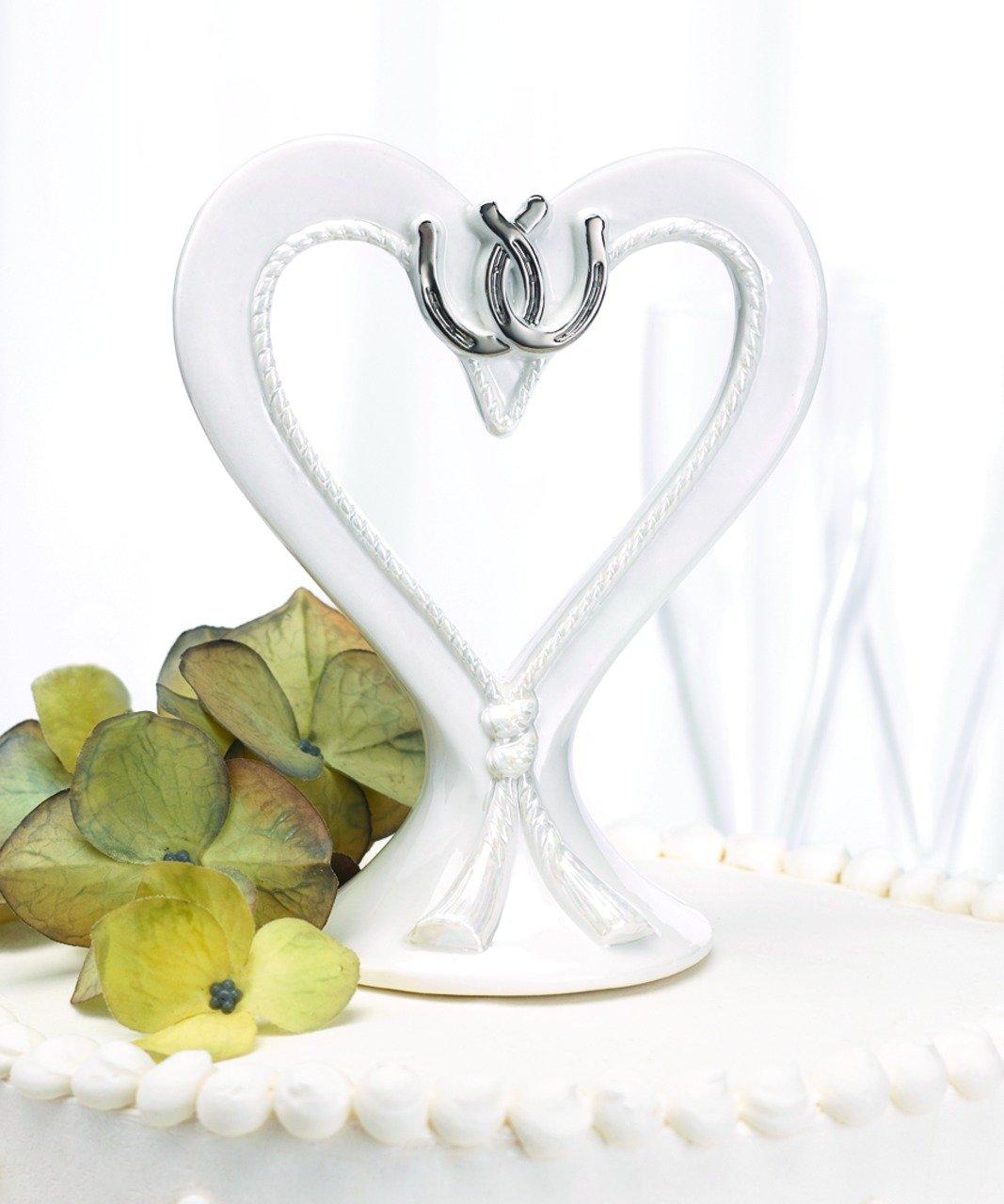 Hortense B. Hewitt Wedding Accessories Linked Horseshoes Cake Top, 5-1/4-Inch Tall by Hortense B. Hewitt (Image #2)