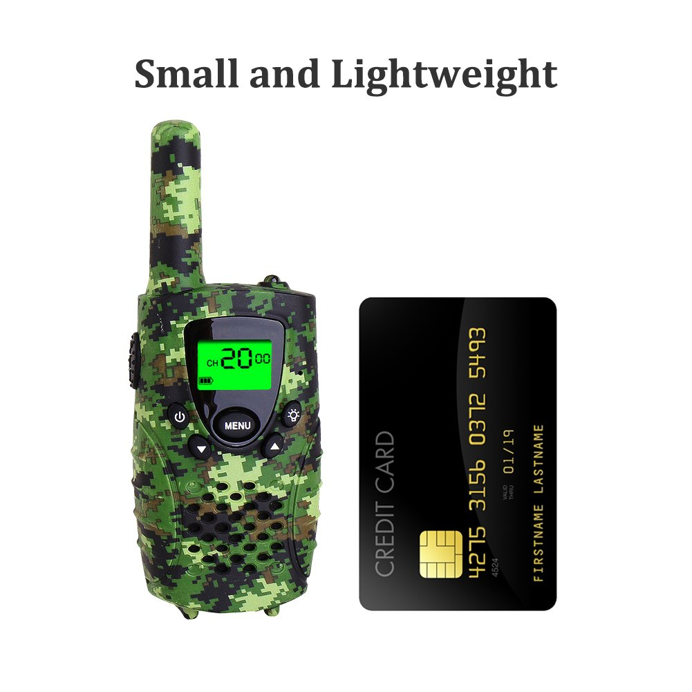 Walkie Talkies for Kids, FAYOGOO 22 Channel Walkie Talkies Two Way Radio 3 Miles (Up to 4 Miles) Long Range Set Mini Walkie Talkies for Kids, Toys for 3 Year Old Up Boys and Girls (Camo Green) by FAYOGOO (Image #6)