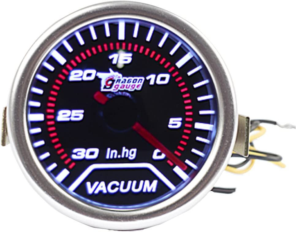 "ESUPPORT Car 2"" 52mm Turbo Vacuum Gauge Meter Automotive Universal"