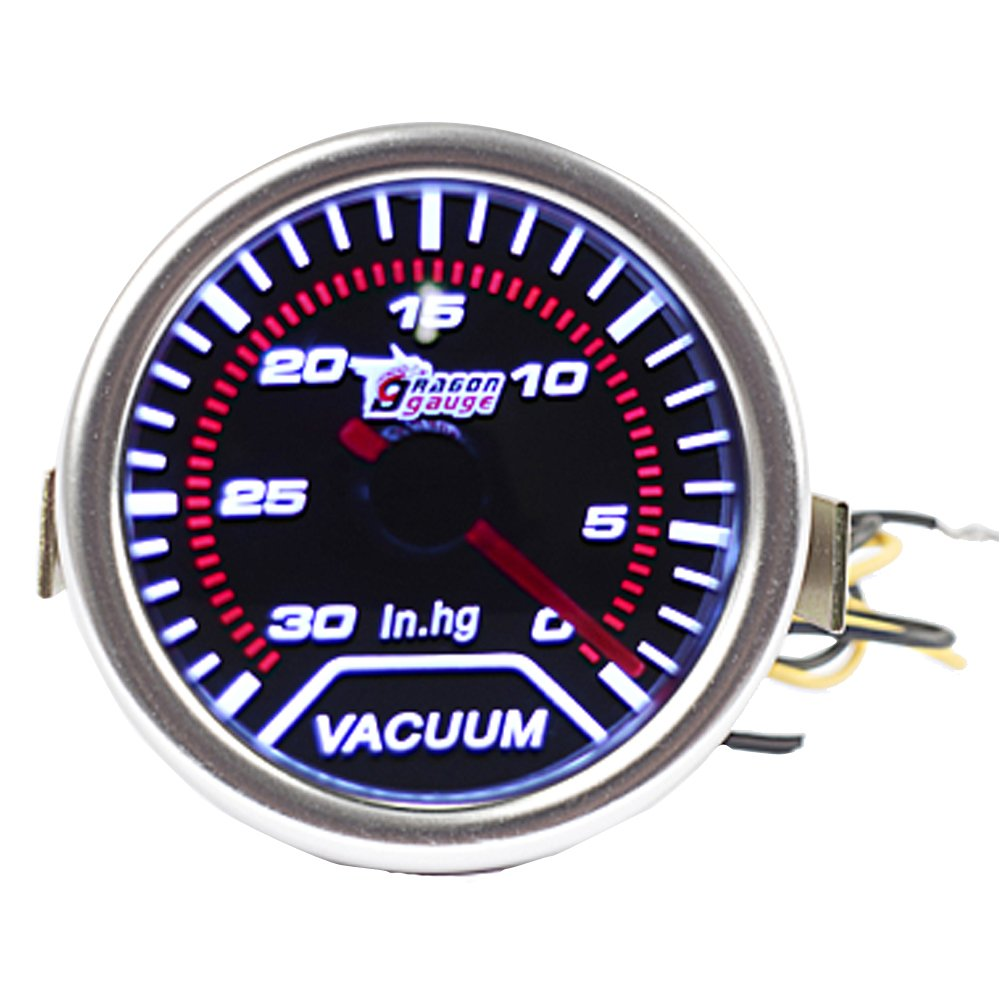 ESUPPORT Car 2'' 52mm Turbo Vacuum Gauge Meter Automotive Universal by ESUPPORT