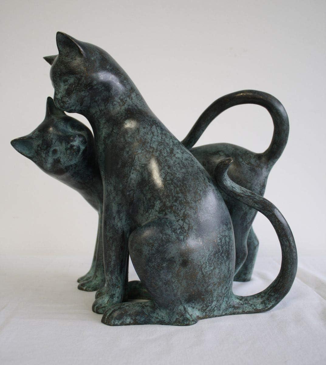 Bronzefigur schlafende Katze Kätzchen Kater Haustier Bronze Skulptur