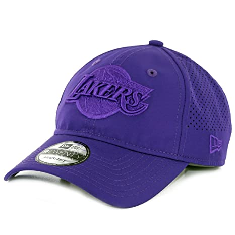 big sale c3eec 92af0 Image Unavailable. Image not available for. Color  New Era 940 Los Angeles  Lakers Performance Pivot Strapback Hat (Purple) Cap