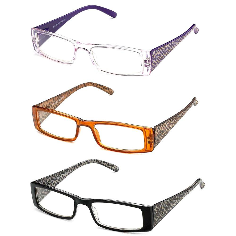 Newbee Fashion-Women Squared Thin High Fashion Translucent Clear Lens Plastic Fashion Glasses with Spring Hinge