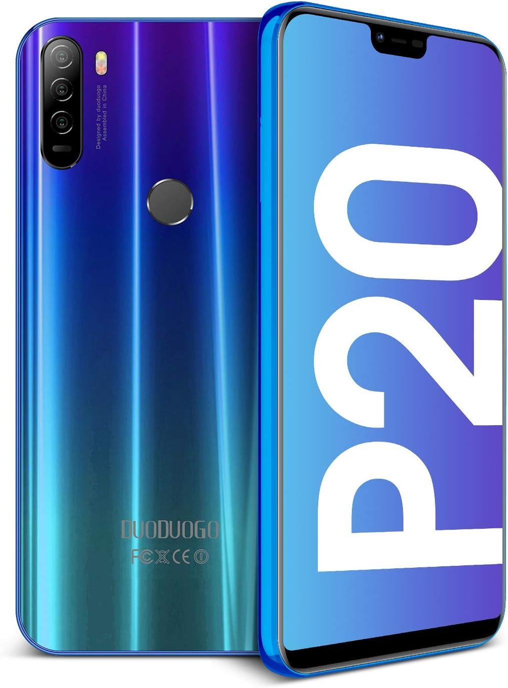 Smartphones Libres 4G 64GB ROM 4GB RAM Android 8.1 Smartphones Libres 5.85 Pulgadas,Fingerprint & Face Unlock 4200mAh Batería Dual SIM Teléfonos Móvils DUODUOGO P20 (Azul): Amazon.es: Electrónica
