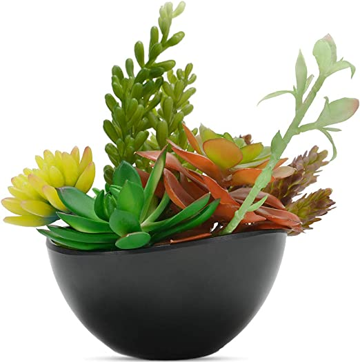 Amazon Com Luxsego Artificial Succulent Plants With Pot 8 Inch