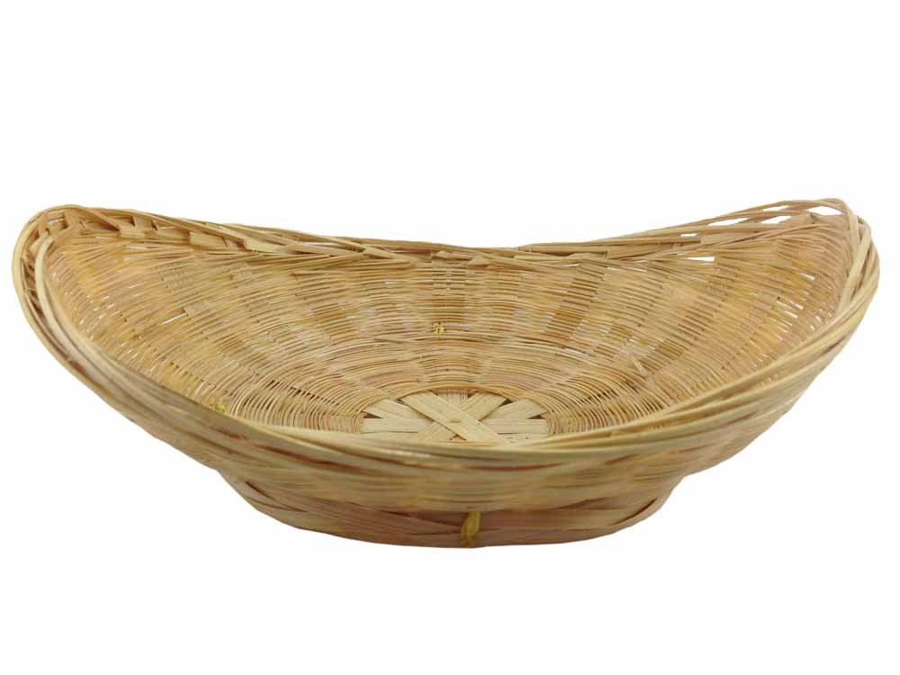 Ellipse Wicker Rattan Basket handmade Bamboo basket Wooden furniture Reed Supply 13x17.5x6cm