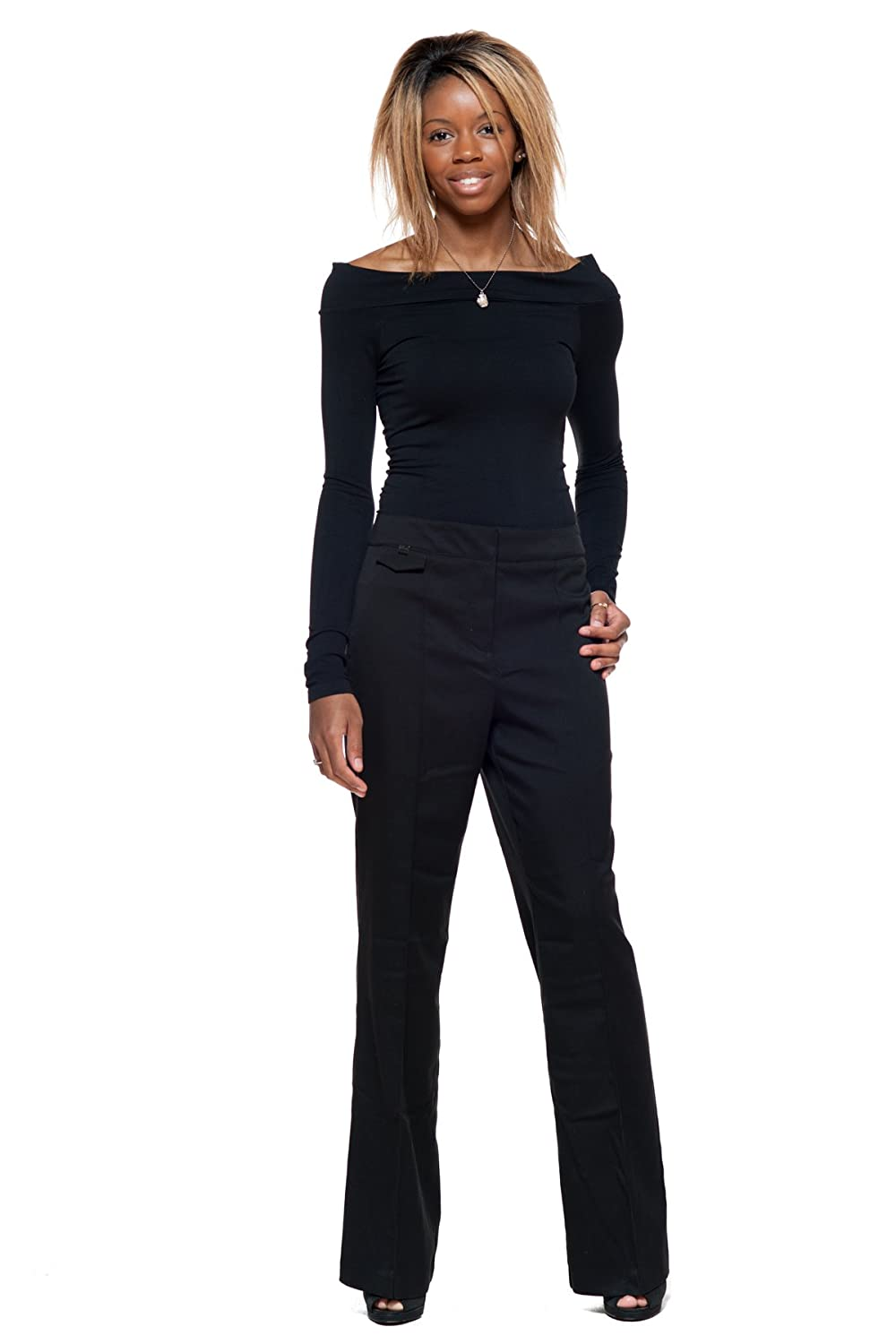 S.C. & Co Canada's Perfect Wide Leg Boot Cut Pant with Tummy Control 02) SCCO-63317CRpant