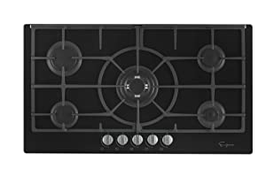 "Empava 36"" 5 Italy Sabaf Burners Gas Stove Top Cooktop Black Tempered Glass EMPV-36GC5L90I"
