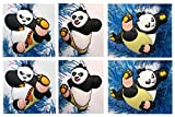 Kung Fu Panda PO Holiday Christmas Ornament Set - Unique Shatterproof Plastic Design