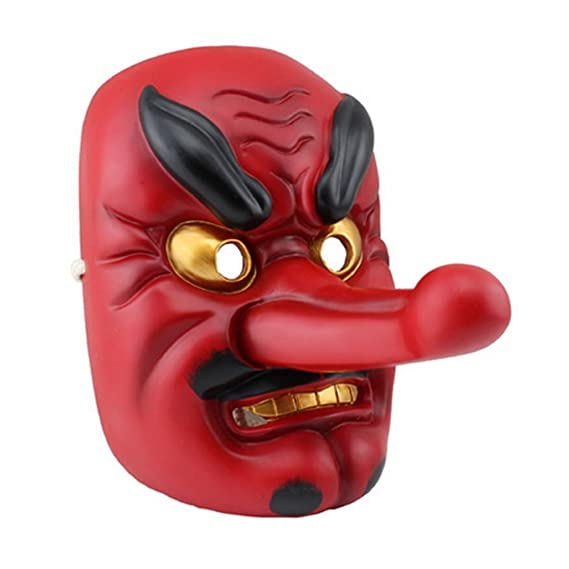 DLLL Plastic Japanese Legendary Specter Replica,Tengu Braggart Mask ...