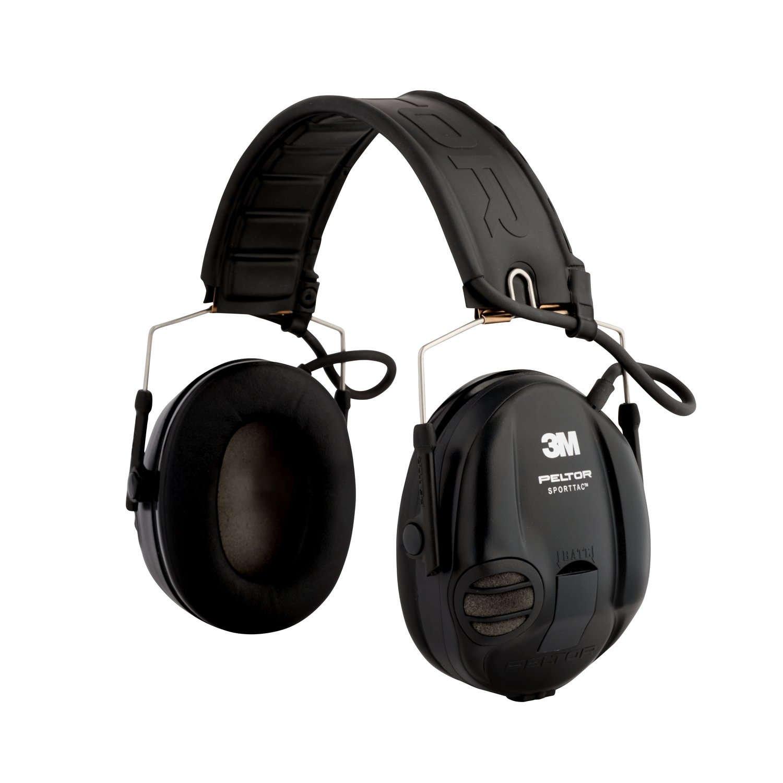 3M Peltor STAC-RD Orejeras de protección, protector auditivo, 26 dB, plegable, Negro/Rojo