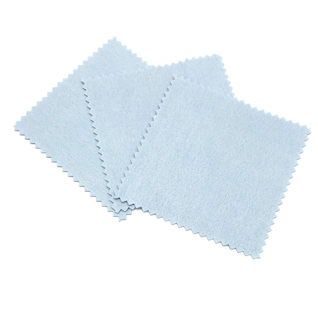 JIALEEY 50 Pack Jewelry Cleaning Cloth Polishing Cloth for Sterling Silver Gold Platinum