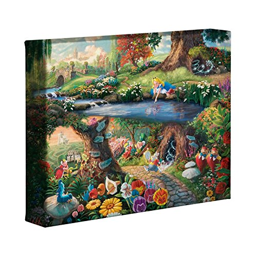 Thomas Kinkade Studios Alice In Wonderland 8 x 10 Gallery Wrapped Canvas ()
