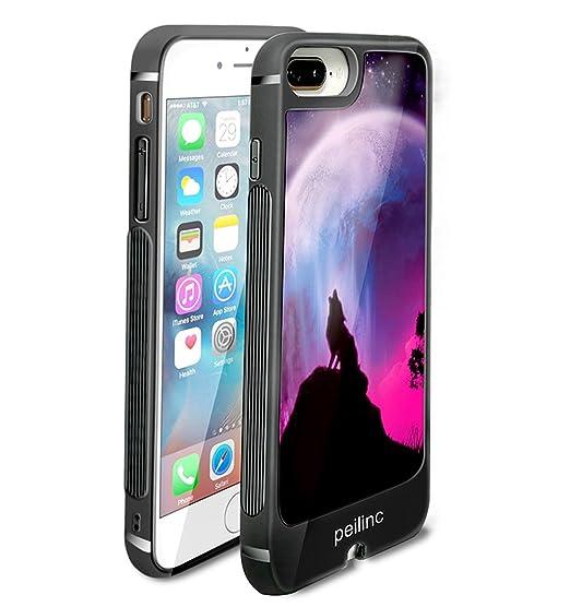 new concept 34ad6 0fa32 Amazon.com: iPhone 8 Plus LED Flash Case Cover, LED Breathing Case ...