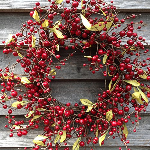 Red Berry Christmas Wreath - Flora Decor Mixed Berry Wreath 22