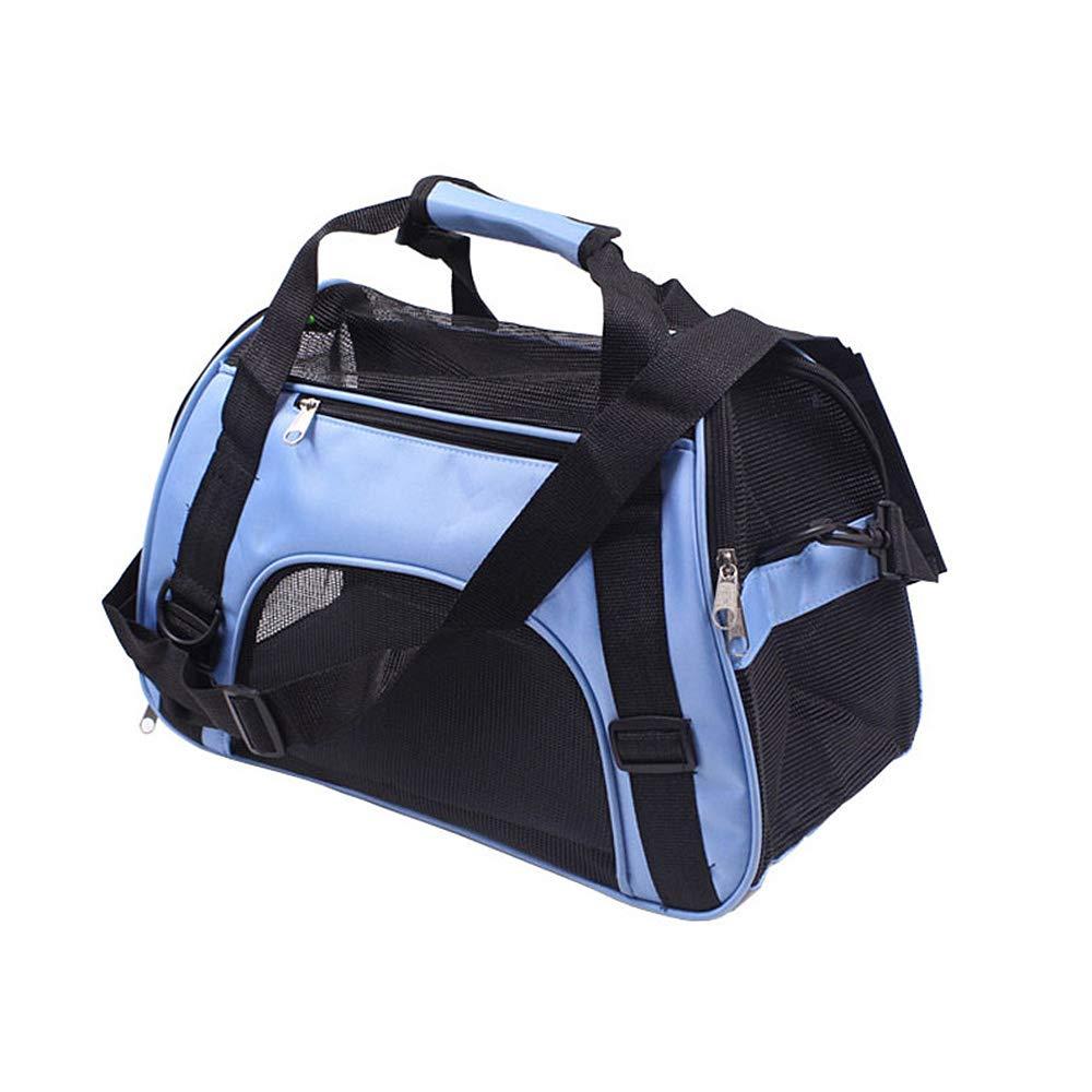 aaerp Portable Sacs de Transport pour Animal Domestique Chien Chiot Chat Respirant de Voyage Pets Tote Sac de Cage de Transport Sac à Main 43 * 20 * 29cm Bleu