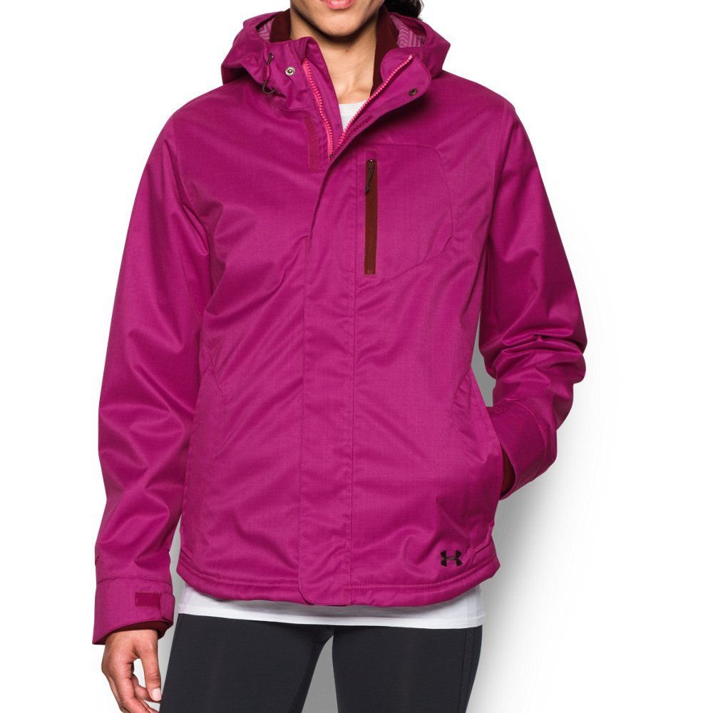 Under Armour Women's ColdGear Infrared Sienna 3-In-1 Jacket, Magenta Shock/Stealth Gray, Small