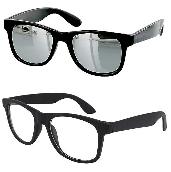 1ee99eccf4 Younky Combo Of Uv Protected Branded Mercury Wayfarer Sunglasses For Men  Women Boys   Girls ( Silver Wayfarer- Clear Wayfare ) - 2 Sunglass Case   Amazon.in  ...