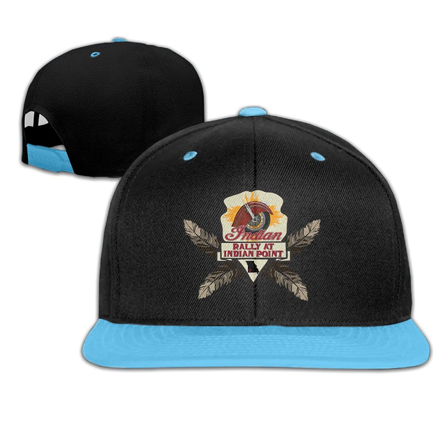 Unisex-child Fitted Caps Indian Motorcycle Adjustable Snapbak