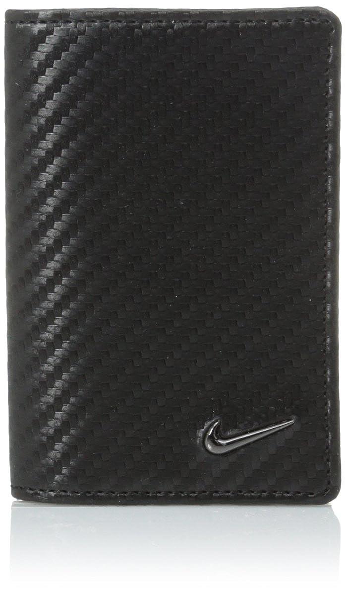 Nike Men's Carbon Fiber Texture Credit Card Fold Wallet Black One Size Nike Men' s Belts 16885