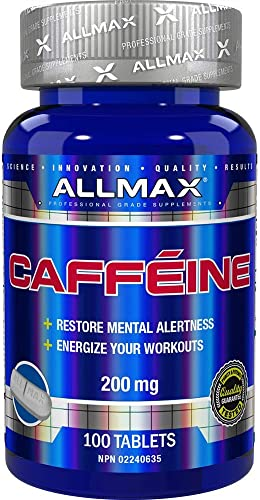 ALLMAX Nutrition Caffeine 200 mg, 100 tablets