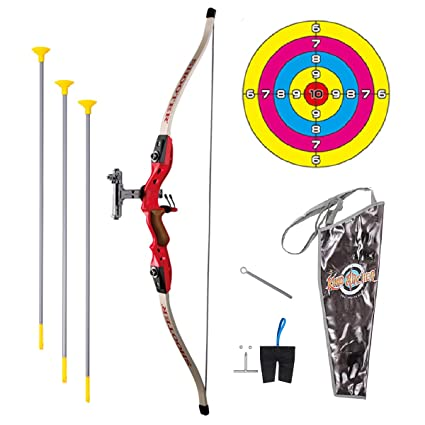 buying new stable quality competitive price Pickwoo Bow and Arrow for Kids, Bow & Arrow Play Set for Boys and Girls,  Archery Set for Beginners with Target, Shooting Hunting Bow for Toddlers  Bow ...