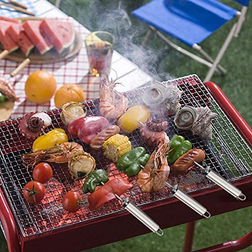 Nologo Outil Barbecue Ensemble Grand Acier Inoxydable brésilien Style BBQ BBQ bâton Barbecue Brochettes shish Kebab Brochette Brochettes Large Set Lame LPLHJD