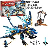 349pcs Ninjagoes Jay's Elemental Dragon Ninja Bricks Compatible with Legao 70602 Models Building Blocks toys for children gifts