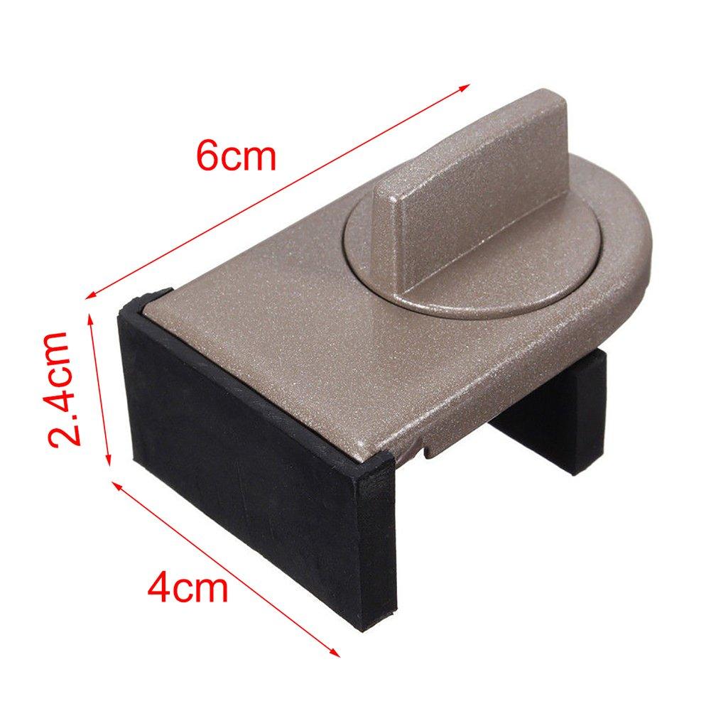 tope de aleaci/ón de aluminio Cierre de seguridad para beb/és 1unidades bloqueo para puerta o ventana corrediza antirrobo