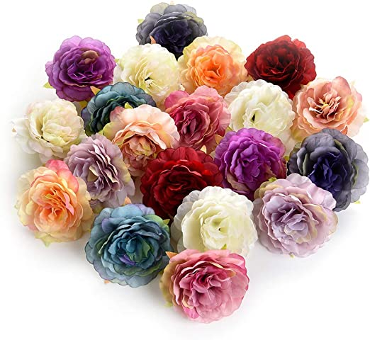 10//20Pcs Artificial Fake Flower Heads Bulk//Lot Silk Large Rose Craft Home Decor