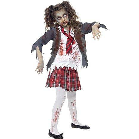 420ed0e9d235 Travestimento scolara Zombie Costume Morto Vivente Bambini L 146 152 cm (9  - 12