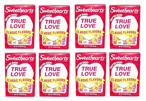 Sweethearts Candies Classic Flavors Box, 0.9 ounces (8)
