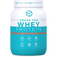 Grass Fed Whey Protein Chocolate 2lb - 100% Pure and Natural - 2lb/24 Servings - 24g Protein - Cold Processed - Non-GMO…