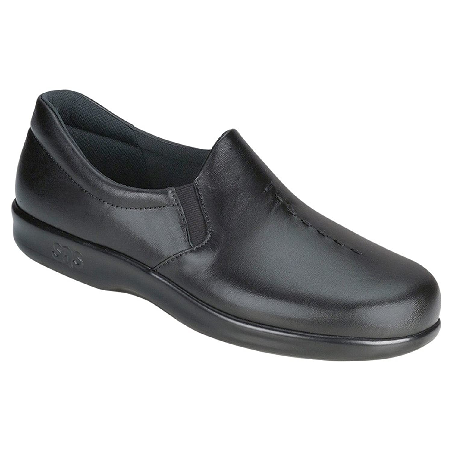 SAS Women's Viva Black Leather Slip on Comfort Shoes