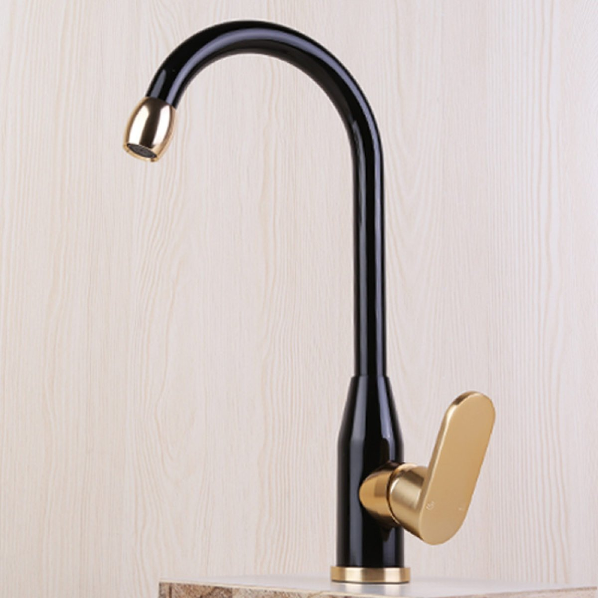LDONGSH Space Aluminum Black Gold Pots Kitchen Drawing Electroplating Faucet Tap
