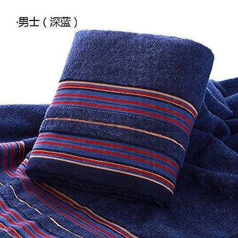 Dreamingces-Toallas De Baño Puras Bandas De Colores Blue 140*70Cm Ultra Suave Y