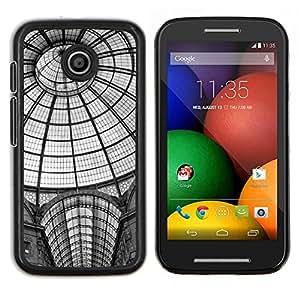 For Motorola Moto E Case , La estación de metro Arquitectura de Nueva York- Diseño Patrón Teléfono Caso Cubierta Case Bumper Duro Protección Case Cover Funda