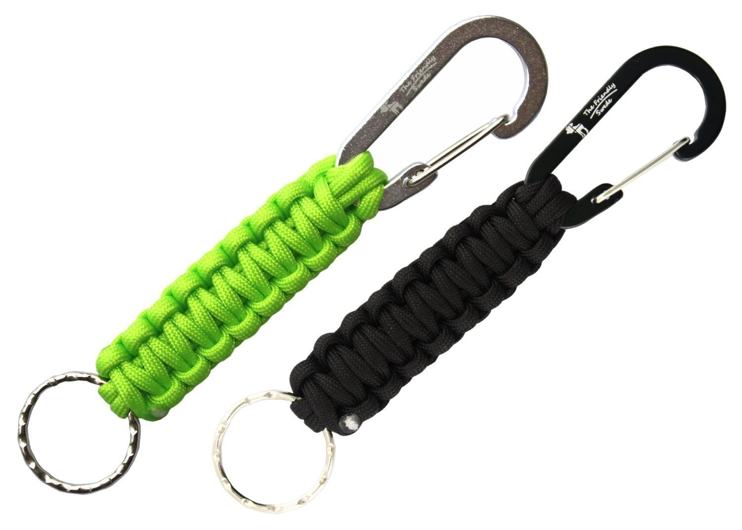 The Friendly Swede Llavero en Paracord con Mosquetón (Pack de 2) - GARANTÍA DE POR VIDA