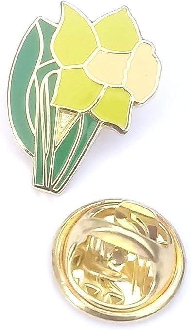 Daffodil Flower Wales Welsh Enamel Lapel Pin Badge T429