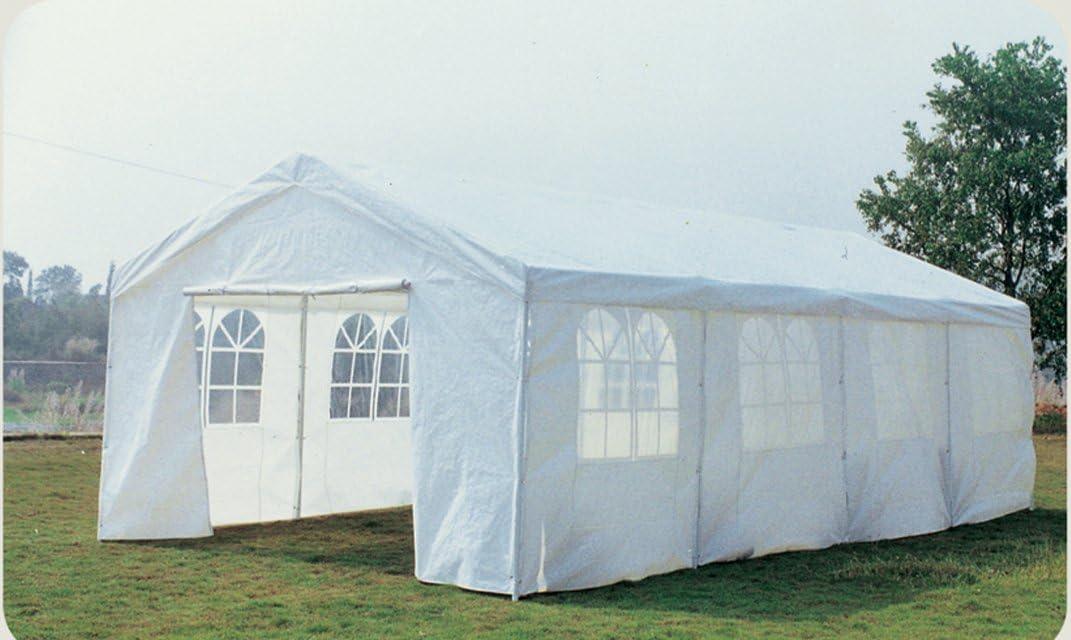 8x4 metros Jardín Gran Carpa boda / el partido Gazebo - Blanco impermeable Pe: Amazon.es: Jardín