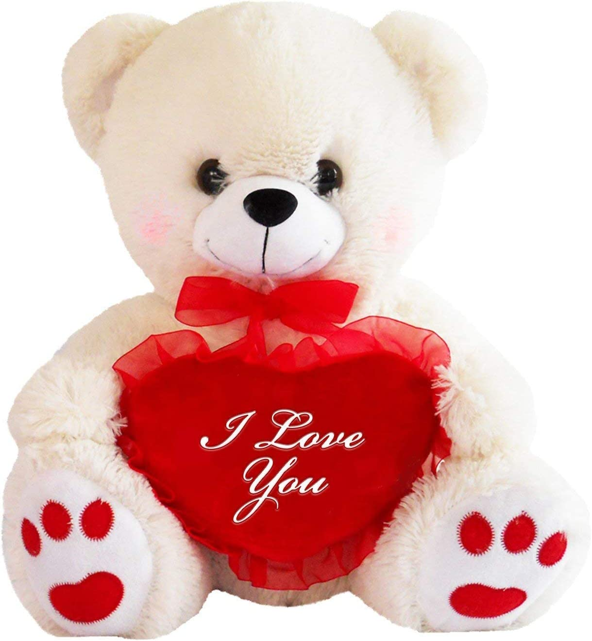 Amazon Com Dbk Gifts Teddy Bear With I Love You Heart White Toys Games