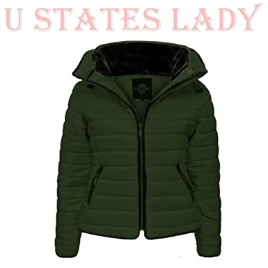 b895b68e USA Women's Stylish Gorgeous Zara Jackets High Padded Collar Quilted Winter  Coat at Amazon Women's Clothing store: