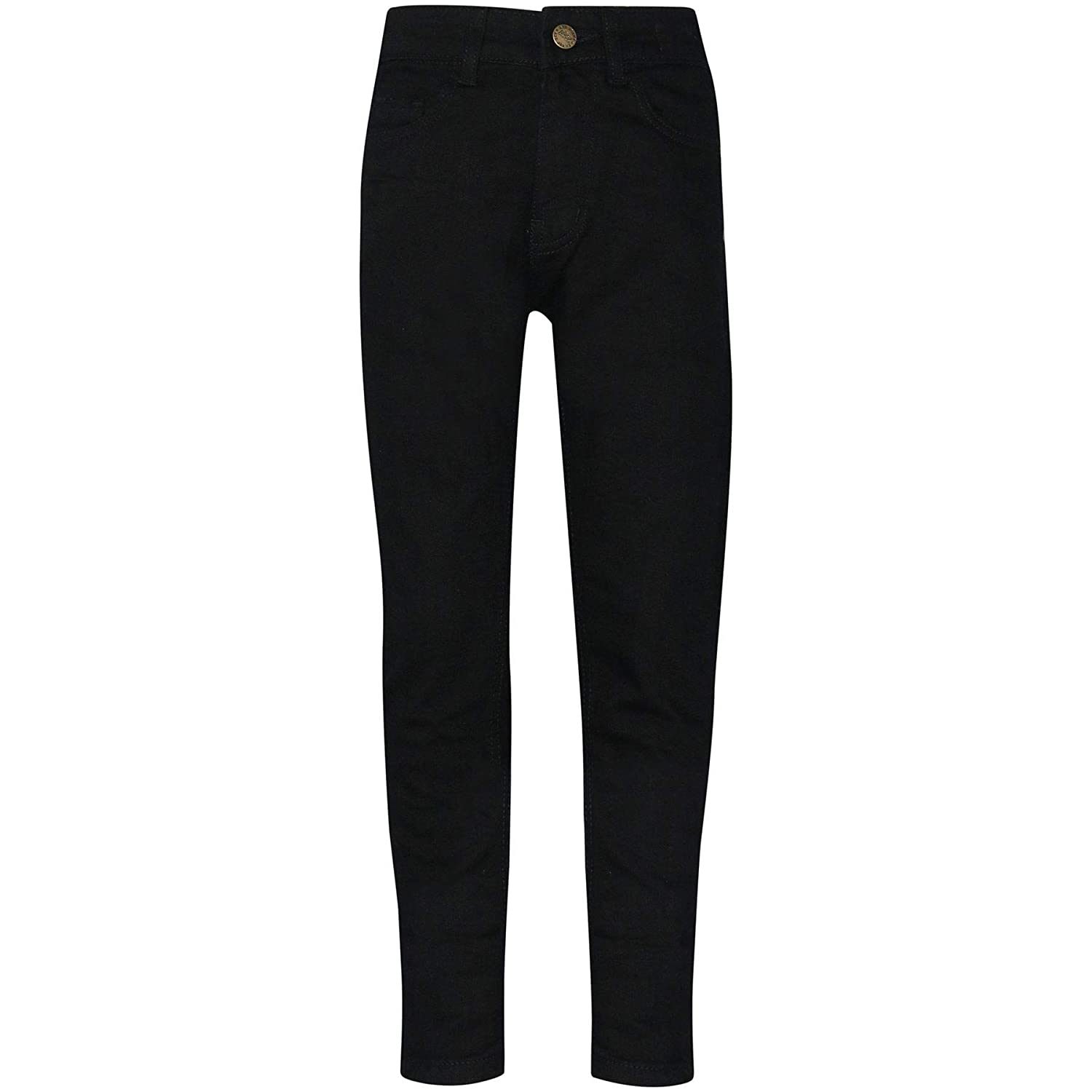 A2Z 4 Kids Kids Boys Skinny Jeans Designer's Jet Black Denim Stretchy Pants Fashion Fit Trousers New Age 5 6 7 8 9 10 11 12 13 Years