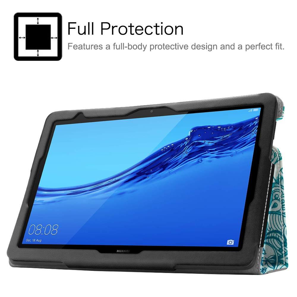 Slim Fit Carcasa de Cuero Sint/ético con Funci/ón de Soporte para Huawei MediaPad T5 10.1 Pulgadas Oro Rosa Fintie Folio Funda para Huawei MediaPad T5 10
