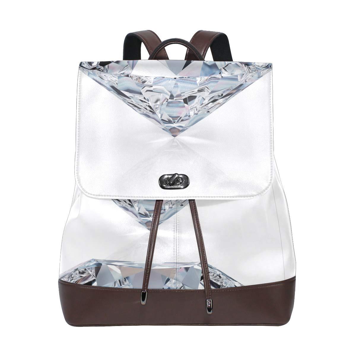 FAJRO en Brillant Diamondtravel Sac à Dos Cuir Sac à Main école Lot