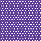 Amscan Classic Polka Dot Jumbo Gift Wrap, Purple, 16' x 30''