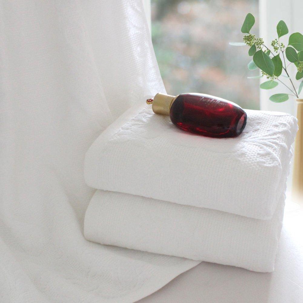 [gruesas toallas blancas]/Adultos baño suave y absorbente toallas algodónToallas Hotel de algodón/blanca toalla gruesa-B: Amazon.es: Hogar