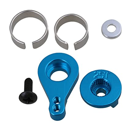 Mxfans Blue A580064 Aluminum Upgrade Parts 25T Steering Servo Horn Arm Set for WL RC1:18 A959 A969 A979 K929 Buggy Largefoot Rally Car