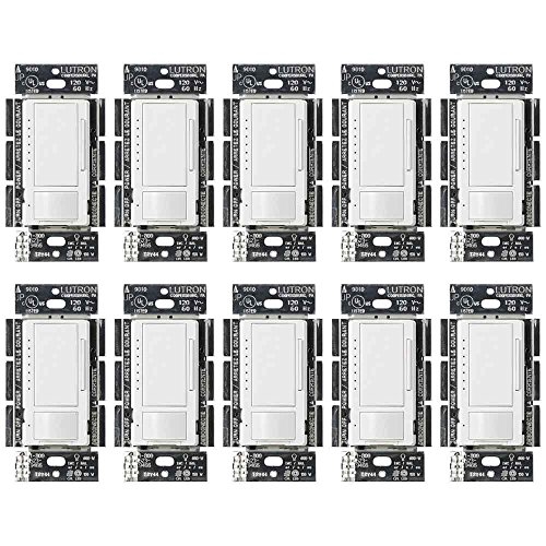 Lutron MSCL-OP153M-WH Dimmer and Motion Sensor, Single-Pole and Multi-Location (10 Pack)