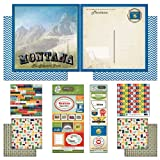 Scrapbook Customs Themed Paper and Stickers Scrapbook Kit, Montana Vintage